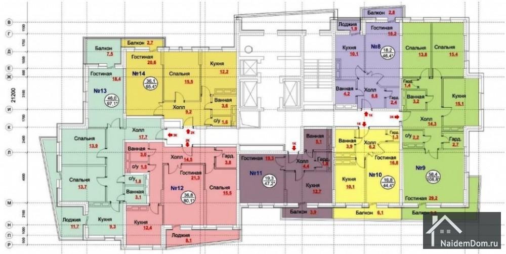 Размер лоджии в 16-ти этажном доме.